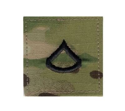 Rothco Multicam Army Private First Class E3 Insignia Patch - 1792