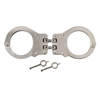 Rothco Nickel Peerless Hinged Handcuffs - 20089