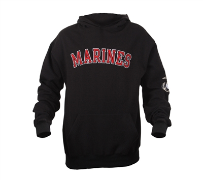 Rothco Black Marines Pullover Hoodie - 2043