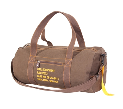 Rothco Brown Canvas Equipment Bag - 22335