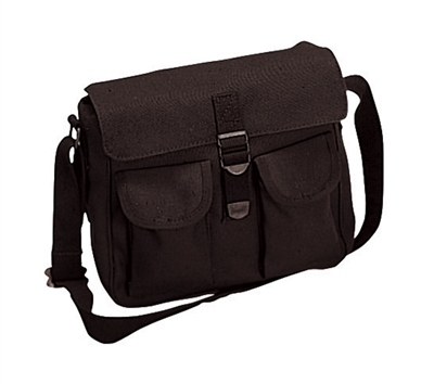 Rothco Black Canvas Ammo Shoulder Bags - 2278