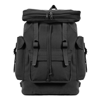 Rothco Black Canvas European Rucksacks - 2305