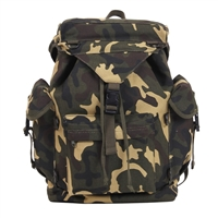 Rothco Woodland Camo Canvas Outdoorsman Rucksacks - 2306