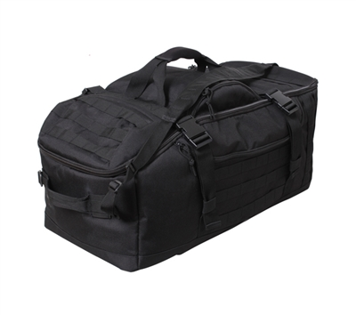 Rothco 3 In 1 Black Convertible Mission Bag - 23500