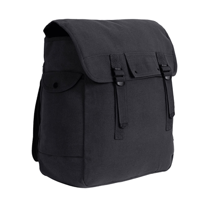 Rothco Black Canvas Jumbo Musette Bag - 2355