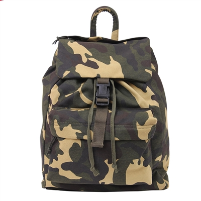 Rothco Woodland Camo Canvas Day Pack - 2370