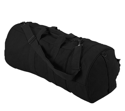 Rothco Black Canvas Double Ender Sport Bag - 2373