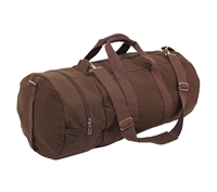 Rothco Brown Canvas Double Ender Sports Bag - 2377