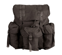 Rothco Black Heavyweight Canvas Mini Alice Packs - 2477