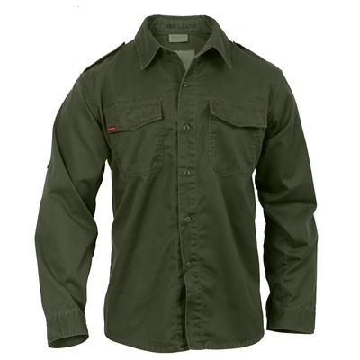 Rothco Olive Drab Vintage BDU Fatigue Shirt - 2568