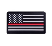 Rothco PVC Red Line Flag Patch 2776