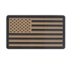 Rothco Khaki-Black Us Flag Patch with Hook Back - 27782