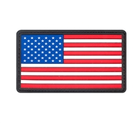Rothco PVC US Flag Patch w Hook Back 27784