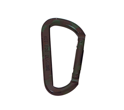 Rothco Woodland Camo 80mm Accessory Carabiner - 292