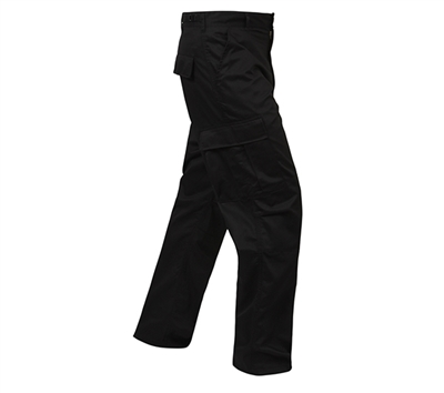 Rothco Mens Black BDU Zipper Fly Pants - 2971