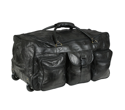 Rothco Leather Patchwork Duffel With Wheels - 2981
