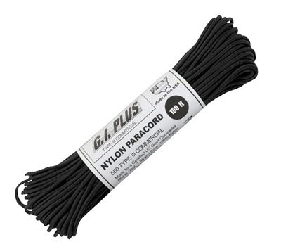 Rothco Black 100 Foot Nylon Paracord - 308