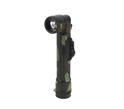 Rothco Woodland Camouflage Anglehead Flashlight - 322