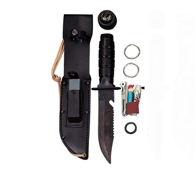 Rothco Black Survival Kit Knife - 3230