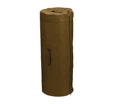 Rothco Coyote Canvas Zipper Duffle Bag - 3439