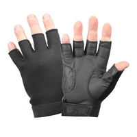 Rothco Black Fingerless Stretch Fabric Gloves - 3460
