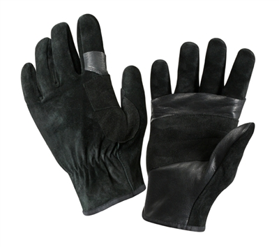 Rothco Black Swat Leather Rescue Gloves - 3482