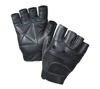 Rothco Black Leather Biker Gloves - 3498