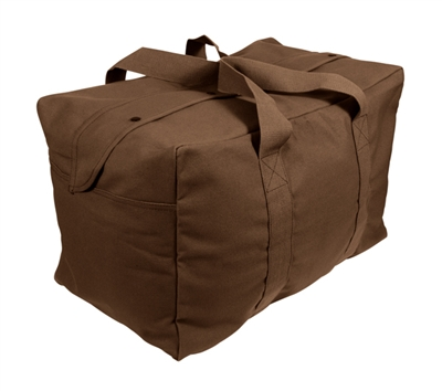 Rothco Brown Canvas Parachute Cargo Bag - 3523