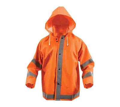 Rothco Orange Reflective Rain Jacket - 3656