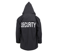 Rothco Black Security Rain Jacket - 36651