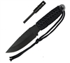 Rothco Black Paracord Knife with Fire Starter - 3675