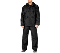 Rothco Black 2-pc Pvc Coated Nylon Rainsuit - 3765