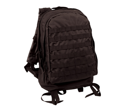 Rothco Black 3 Day Assault Pack - 40139
