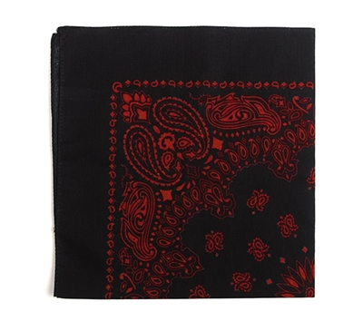 Rothco Black with Red Print Trainmen Bandana - 4043