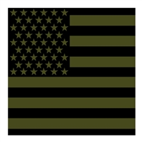 Rothco OD Subdued US Flag Cotton Bandana 4073