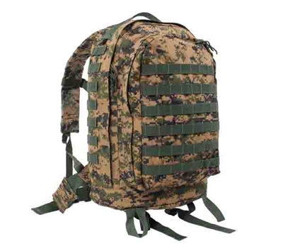 Rothco Woodland Digital Camo Molle 3-day Assault Pack - 41129