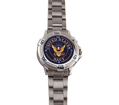 Rothco Chrome Navy Logo Watch - 4223