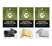 Rothco Web Belt Buckle & Tip Pack - 4300