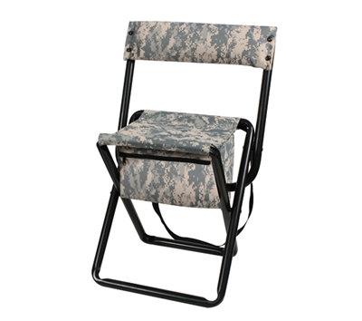 Rothco Digital Camo Stool with Back - 4378