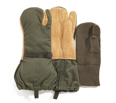 Rothco Used Leather Trigger Finger Mittens - 4393