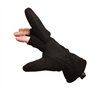 Rothco Black Fleece Fingerless Mittens - 4395