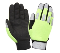 Rothco Safety Green All Purpose Duty Gloves - 4413