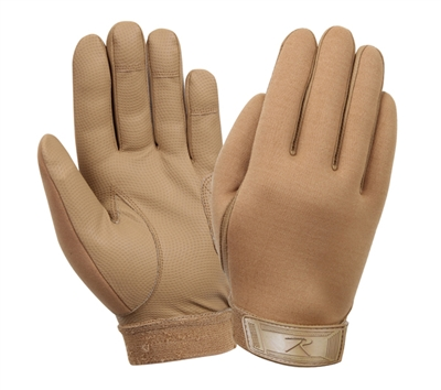 Rothco Coyote Synthetic Rubber Duty Gloves - 4417