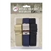 Rothco 3 Pack 54 Inch Military Style Web Belts - 44170