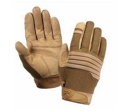 Rothco Coyote Padded Knuckle Gloves - 4460