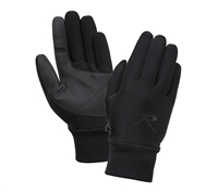 Rothco Black Lined Stretch Fabric Glove - 4464