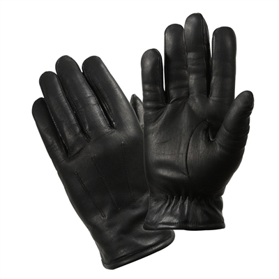 Rothco Black Leather Police Gloves - 4472