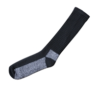 Merino Black Wool Chukka Boot Sock - 4572