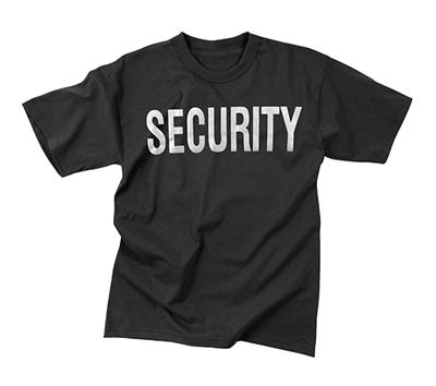 Rothco Black Security Reflective T-shirt - 4616