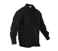 Rothco Black Flannel Shirt - 4637